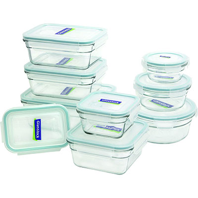 10. Glasslock Assorted Oven Safe Container