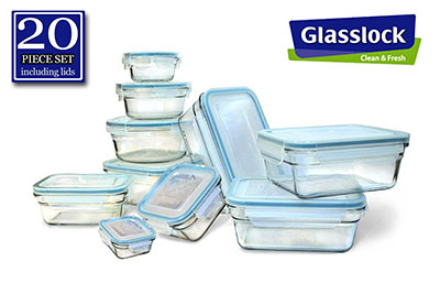 1. New Snaplock Lid: Tempered Glasslock Storage Containers