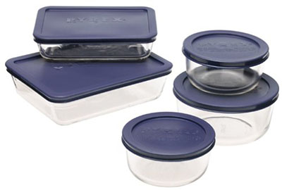 8. Pyrex Simply Store Glass Food Storage Set