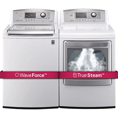 Load Times Reduced And Wrinkles Are Removed We Re Talking Of Course About The Lg H E Ultra Large Capacity Top Laundry Pair With Waveforce