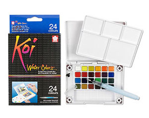 10. Sakura XNCW-24N 24-Piece Koi Water Colour Kit
