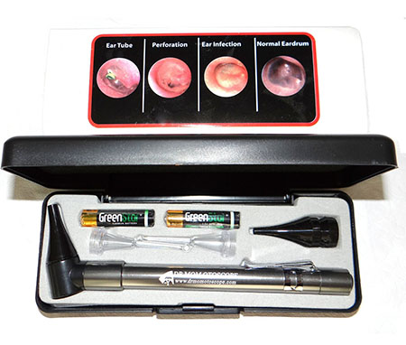 4. Third Generation Dr Mom Slimline Stainless LED Pocket Otoscope