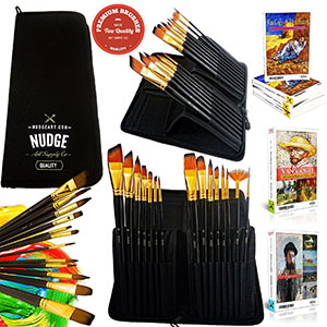 5. NUDGE PREMIUM Paint Brushes