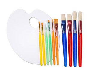 8. Darice 11-Piece Painting Set