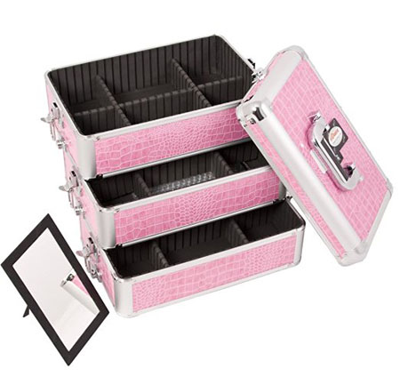 SUNRISE Makeup Rolling Case 4 in 1 I3365 Professional Organizer