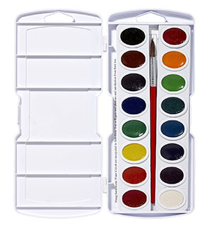9. Prang Oval Pan Watercolor Set