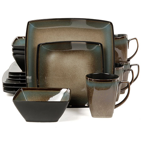 Gibson Elite Tequesta 16-Piece Square Dinnerware Set Taupe  sc 1 st  Fitzgeraldmuseum.net & Top 10 Best Dinnerware Sets in 2018 Reviews