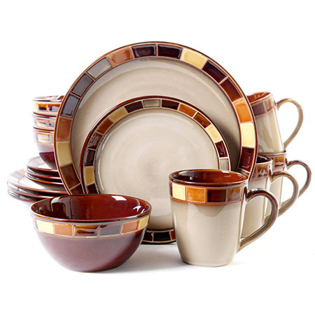 Gibson Casa Estebana 16-piece Dinnerware Set Service for 4  sc 1 st  Fitzgeraldmuseum.net & Top 10 Best Dinnerware Sets in 2018 Reviews