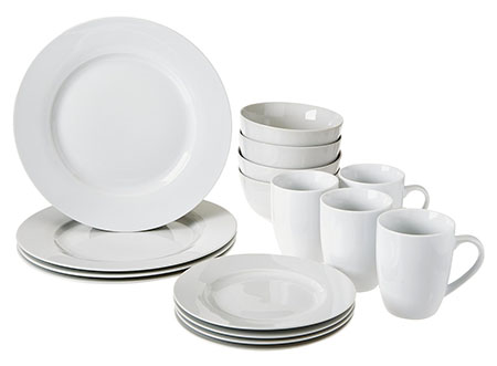 Amazon Basics 16-Piece Dinnerware Set Service for 4  sc 1 st  Fitzgeraldmuseum.net & Top 10 Best Dinnerware Sets in 2018 Reviews
