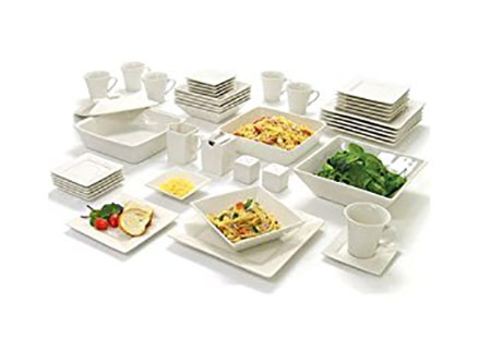 10 Strawberry Street Nova Square Banquet 45-piece Dinnerware Set Cream White  sc 1 st  Fitzgeraldmuseum.net & Top 10 Best Dinnerware Sets in 2018 Reviews