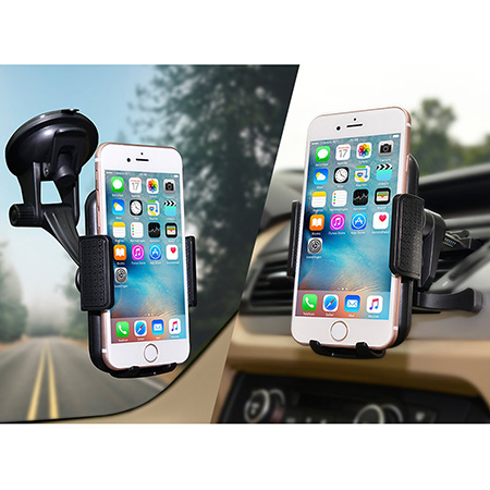 JAMRON 2-in-1 Universal Car Phone Mount Holder
