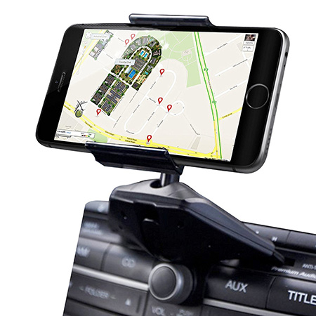 Ipow Universal CD Slot Smartphone Car Mount Cradle Holder