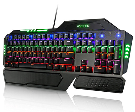 Pictek 104 Keys Anti-ghosting Mechanical Gaming Keyboard