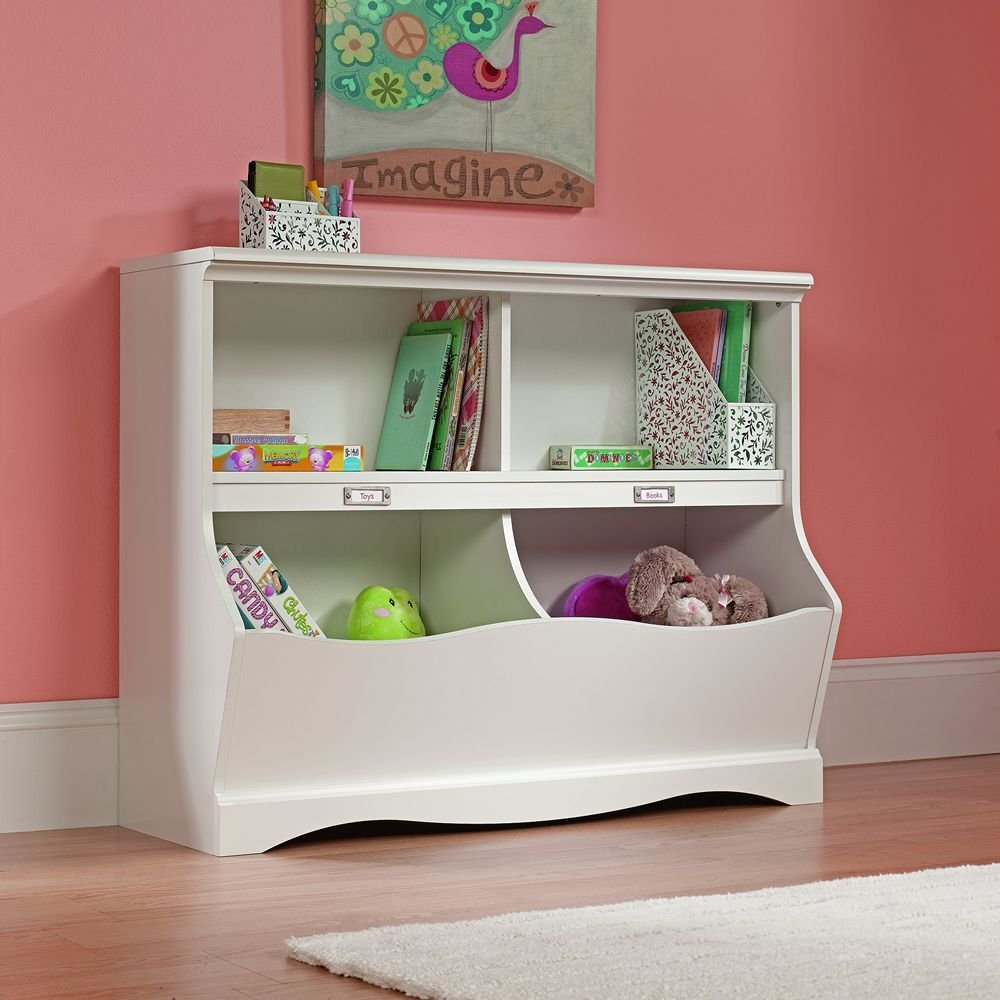 Suader Pogo Soft White Finish Bookcase/Footboard