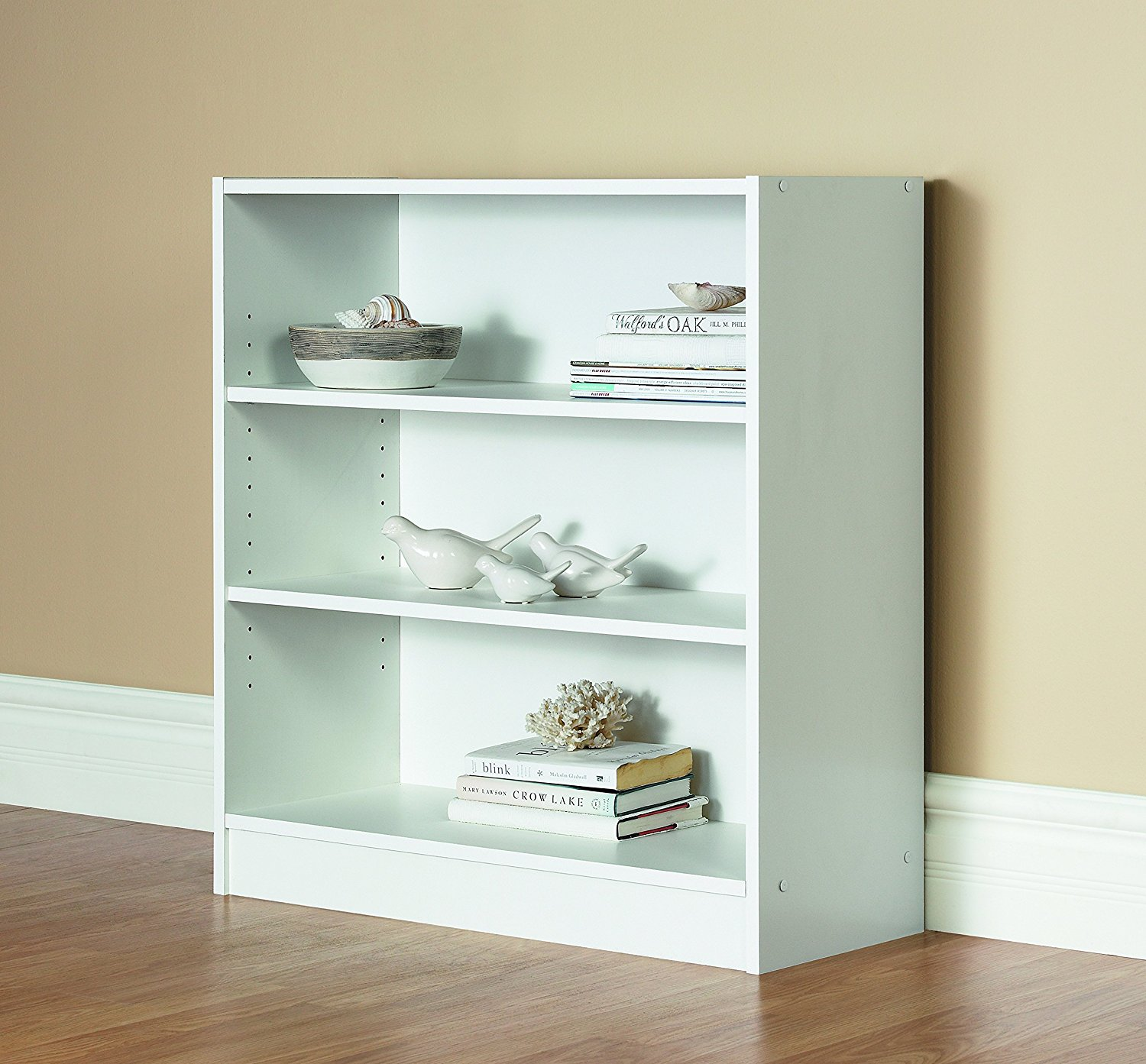 Mylex 43061 Three Shelf Bookcase