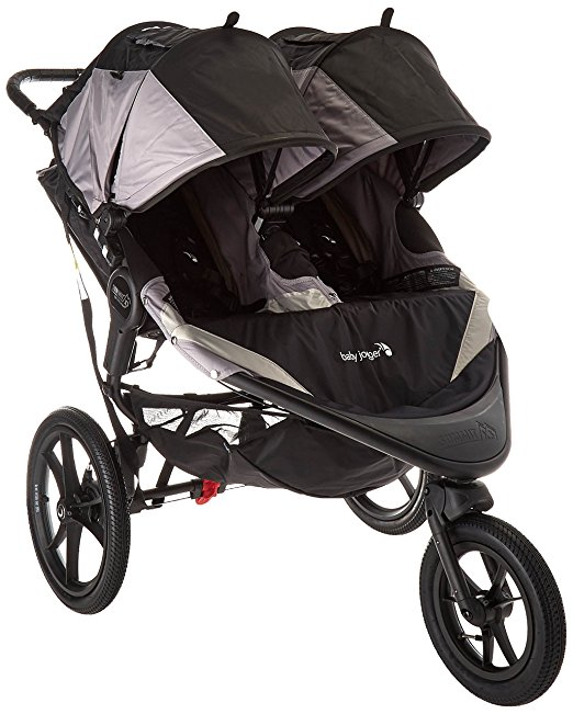 Baby Jogger Black/Gray 2016 Summit Jogging Stroller (X3 Double)