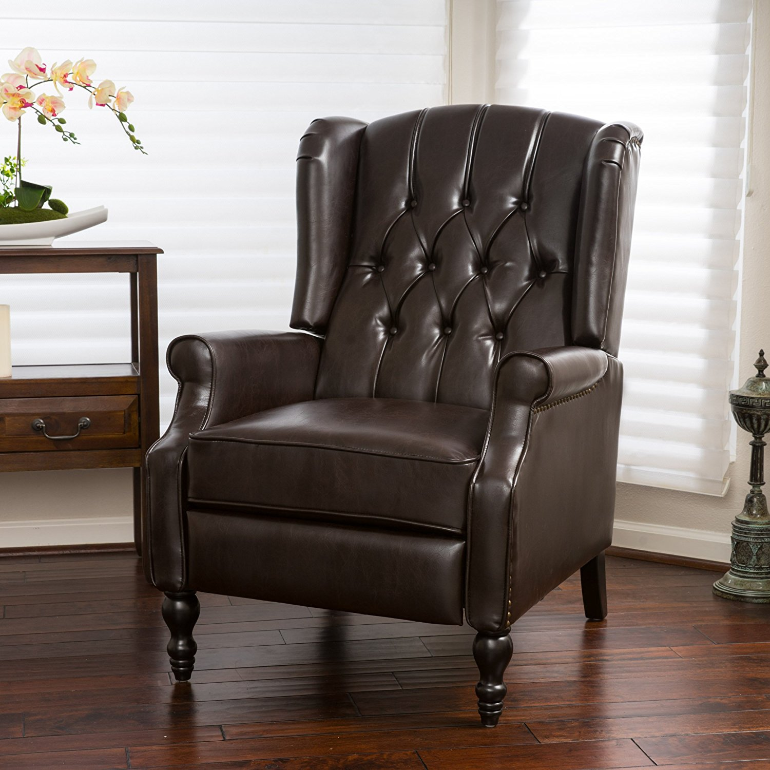 GDF Studio Elizabeth Tufted Recliner Arm Chair