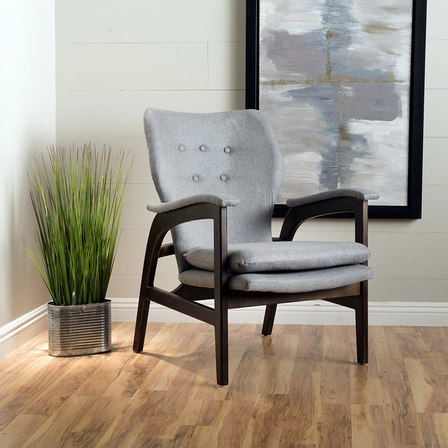GDF Studio Joseph Mid Century Arm Chair