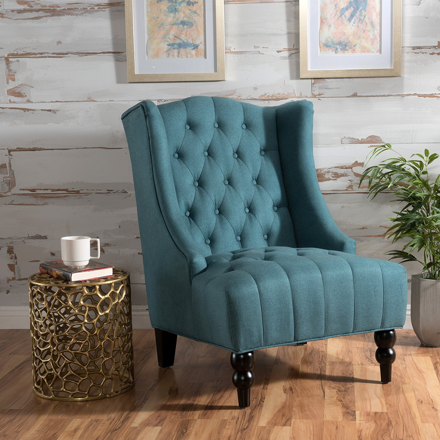 Clarice Deal Furniture Dark Teal Accent Chair