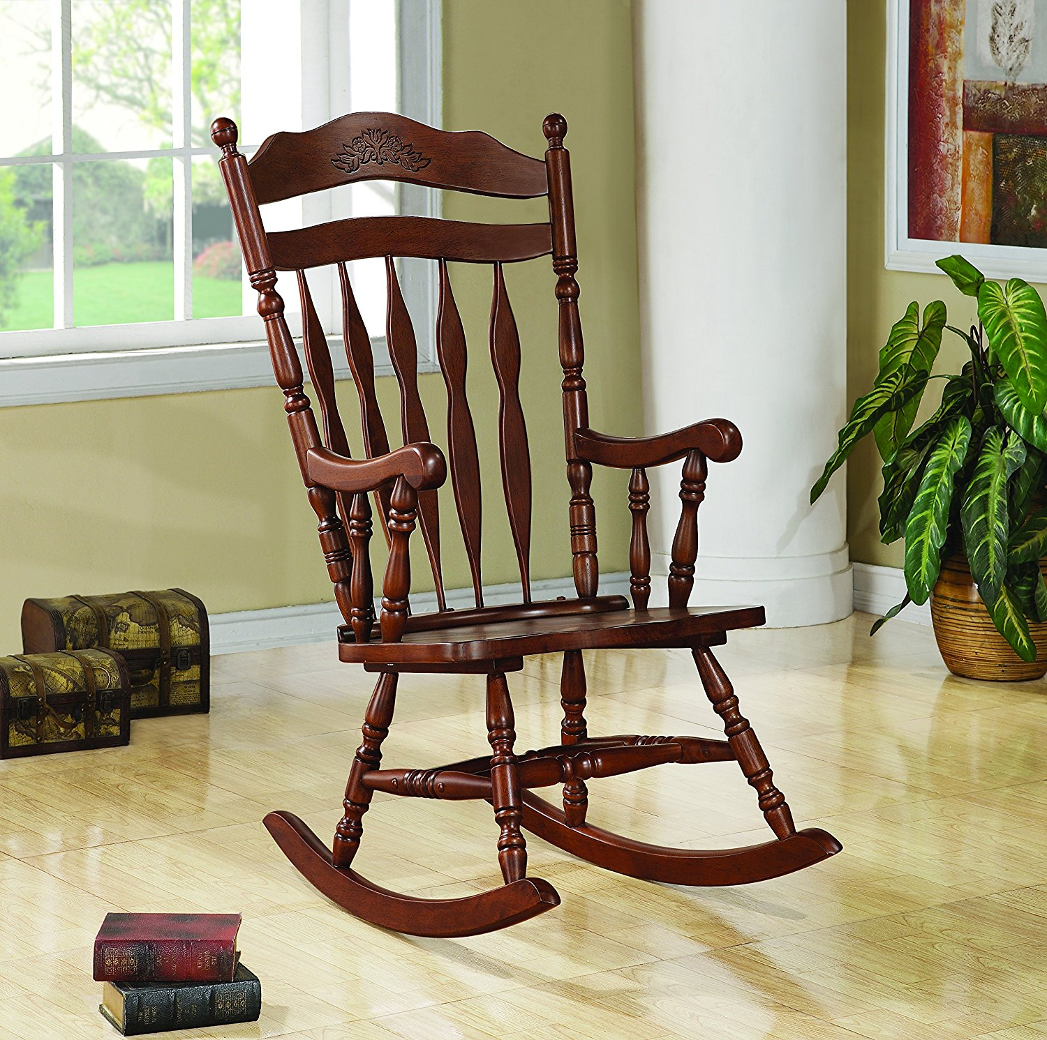 Coaster Home Furnishings Rocking Chair with Curved Detail