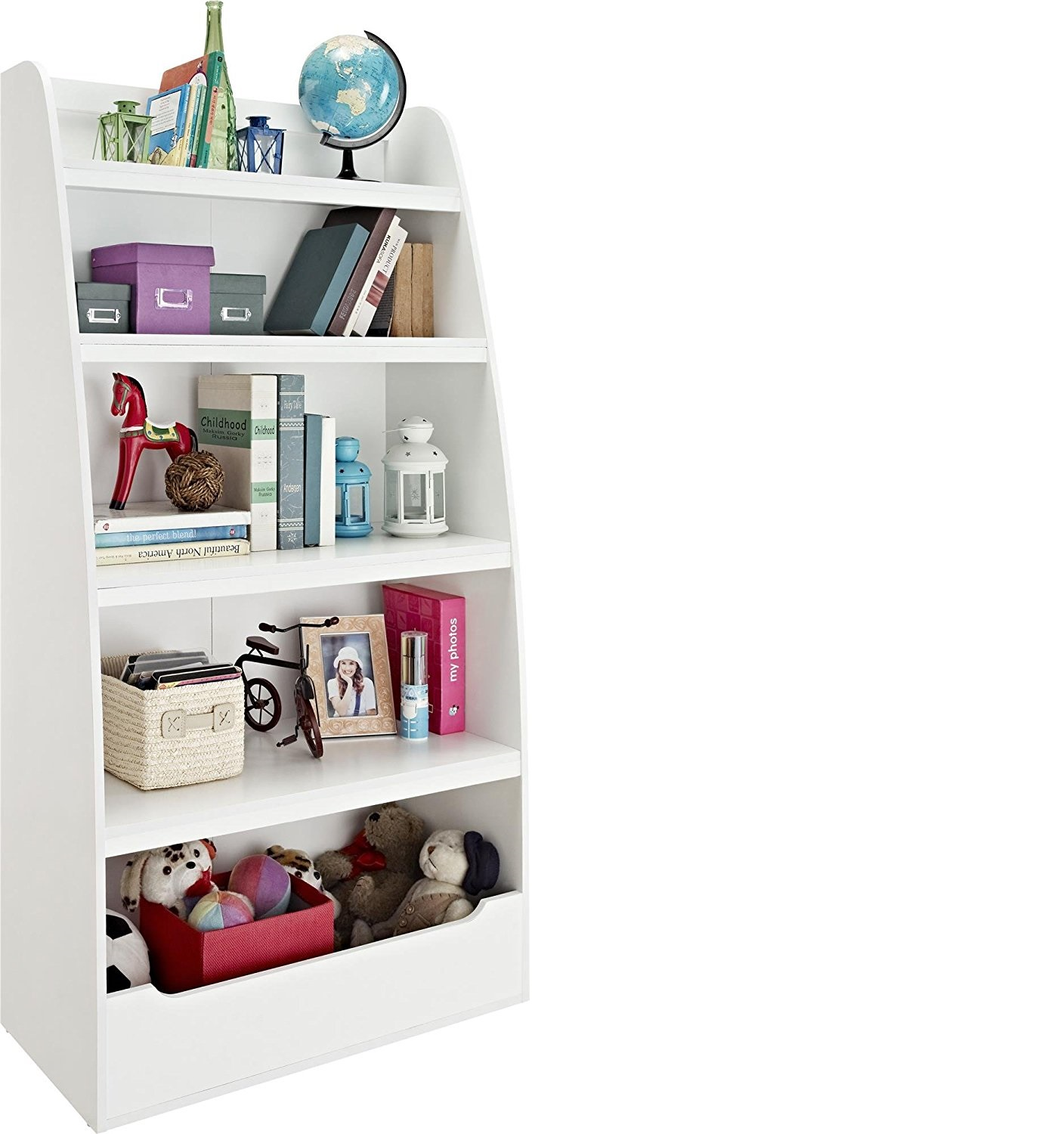 Cosco White Kids 4 Shelf Bookcase