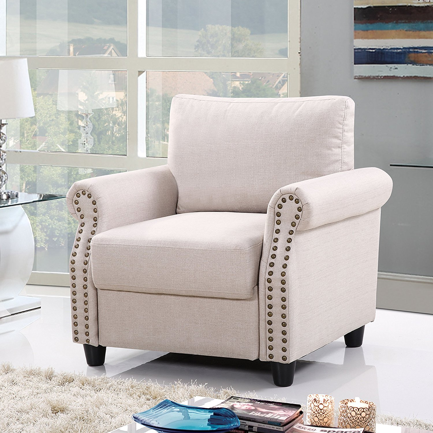 Doma Roma Furniture Beige Living Room Armchair