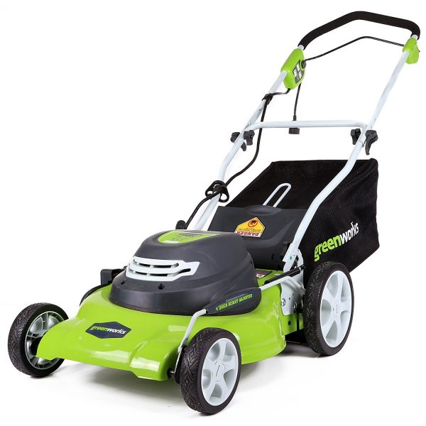 2. GreenWorks 25022 12 Amp Corded 20-Inch Lawn Mower