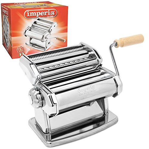2. Imperia Pasta Maker Machine, wood grip handle model