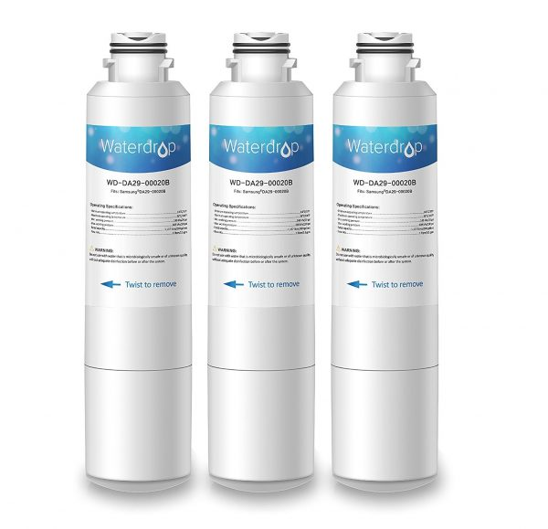 2. Waterdrop DA29-00020B Refrigerator Water Filter Replacement for Samsung DA29-00020B