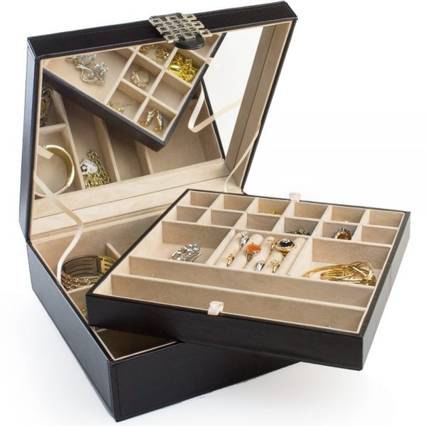 4. Jewelry Box - 28 Sections Classic Jewelry