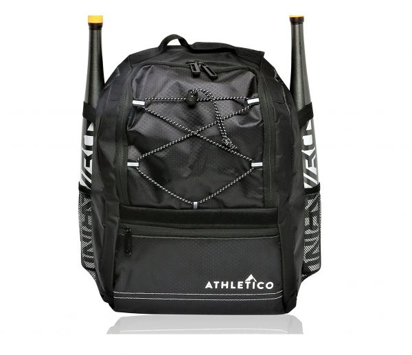 4. Athletico Youth Baseball Bat Bag - Backpack for Baseball, T-Ball & Softball Equipment & Gear