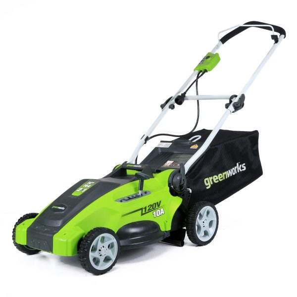 5. GreenWorks 16-Inch Corded Lawn Mower