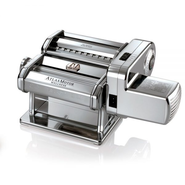 5. Atlas Electric Pasta Machine, Silver with Motor Set