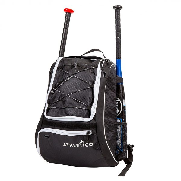 5. Athletico Baseball Bat Bag - Backpack for Baseball, T-Ball & Softball