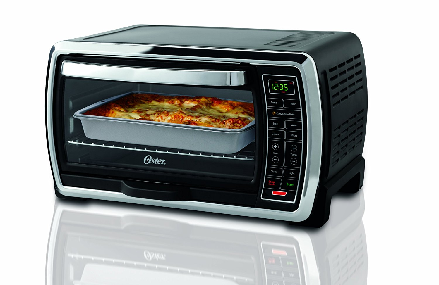 Oster with large capacity countertop 6 Slice digital convection
