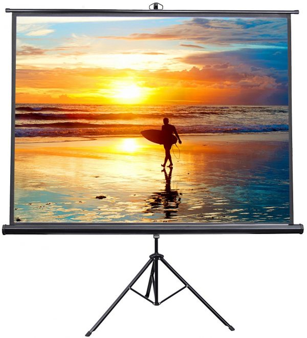 "2. VIVO 100"" Portable Projector Screen"