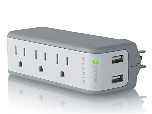 3. Belkin Mini Surge Protector with USB Charger