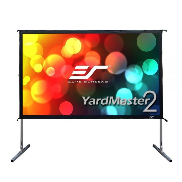 6. Elite Screens Yard Projector Screen OMS120H2