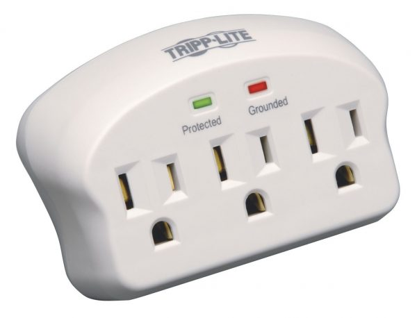 6. Tripp Lite 3 Outlet Portable Surge Protector/Suppressor