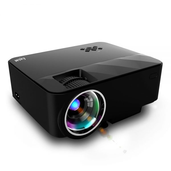 8. Wsky T21 1500 Lumens LCD LED Portable Video Projector