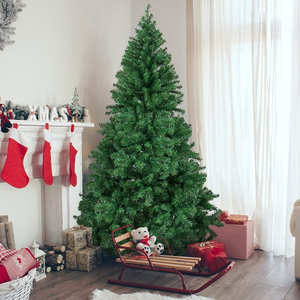 2. Best Choice Products 6' Premium Hinged Artificial Christmas Pine Tree