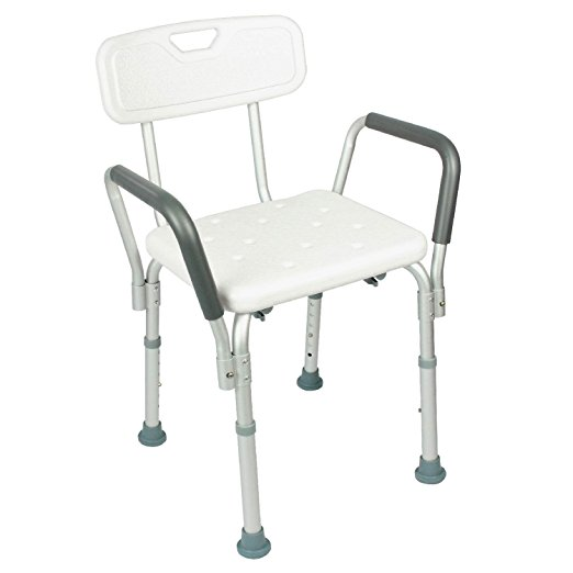 7. Shower Chair with Back by Vive