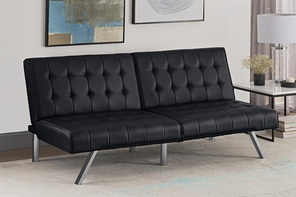 1. DHP Emily Futon Sofa Bed