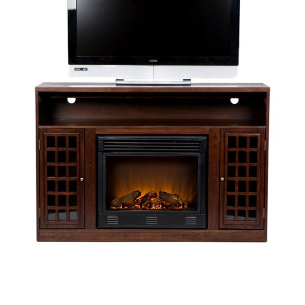 1. Narita Media Electric Fireplace - Espresso