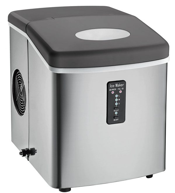 1. Igloo ICE103 Counter Top Ice Maker with Over-Sized Ice Bucket, Stainless Steel