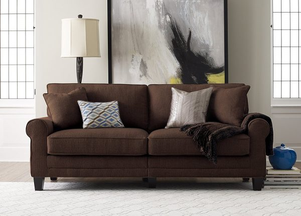 "2. Serta RTA Copenhagen Collection 73"" Sofa in Rye Brown"