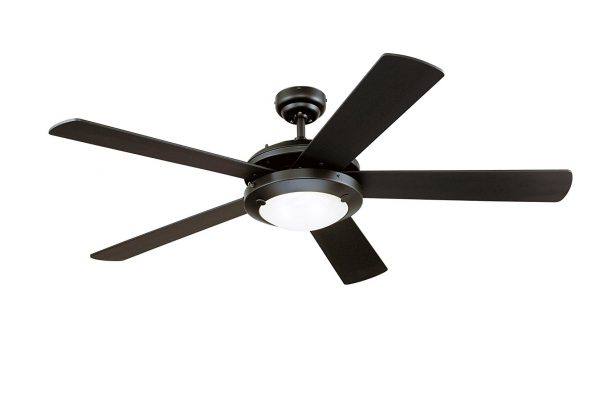 2. Westinghouse Two-Light Reversible Five-Blade Indoor Ceiling Fan
