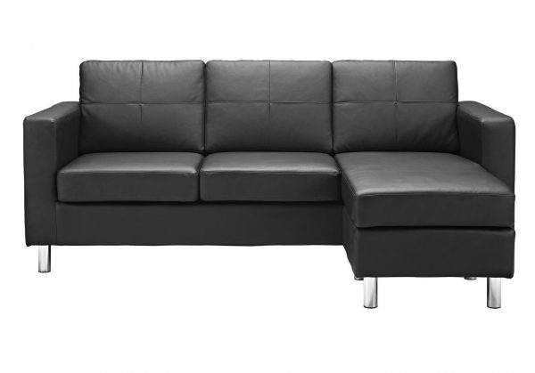 3. Modern Bonded Leather Sectional Sofa