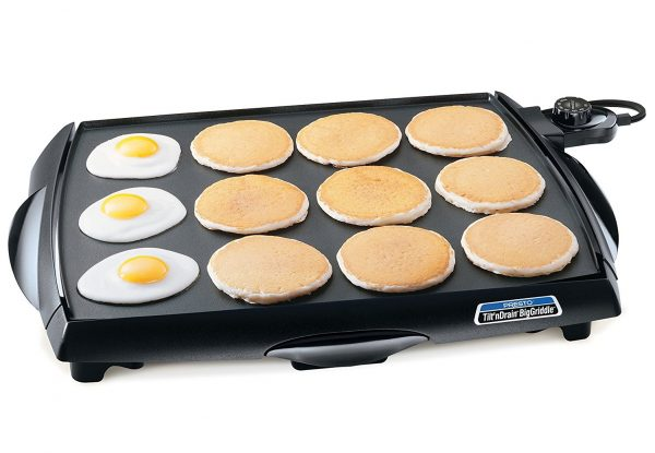 3. Presto 07046 Tilt 'n Drain Big Griddle Cool-Touch Electric Griddle