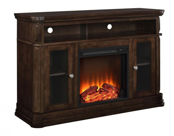 3. Ameriwood Home Brooklyn Electric Fireplace TV Console